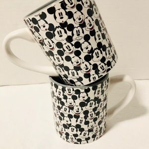 Disney Mickey Mouse Coffee Mugs New Set of 2